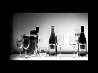 wine bottles 1075BW 9x12